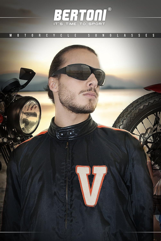BERTONI Motocicleta Gafas/ /af149/by Italy /Wind Densidad Cristales irrompibles antiniebla/