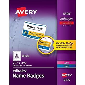 Amazon avery adhesive name badges 2 13 x 3 38 inches box avery adhesive name badges 2 13 x 3 38 pronofoot35fo Choice Image