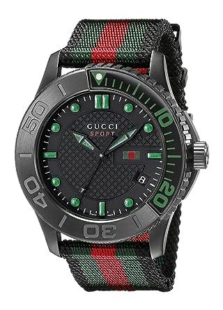 656e57949dc Gucci Men s YA126229 G-Timeless Dive Black Dial Nylon Strap Watch  Gucci   Amazon.ca  Watches