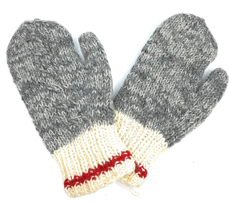 Hand Knit Wool Mittens...