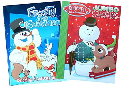 Frosty the Snowman and Rudolph the Reindeer Coloring Book Set (Assorted Covers) by Bendon Publishing