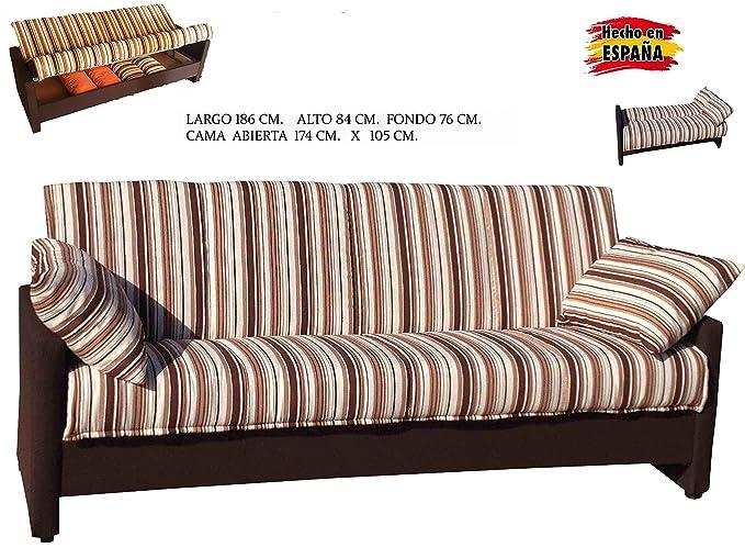 HOUSESTOCKS Sofa Cama con Brazos TAPIZADOS: Amazon.es: Hogar