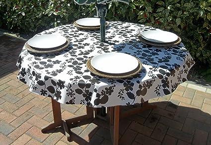 The Tablecloth Company Nappe Ronde En Vinyle Pvc Avec Trou