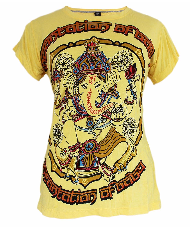 Yoga Shirts Camiseta Ganesha Para Mujer Dios Hindú del Elefante Om T-Shirt: Amazon.es: Ropa y accesorios
