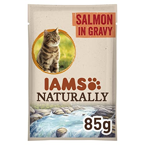IAMS Naturally Adult Cat with North Atlantic Salmon In Gravy Comida para Gatos - 85 gr