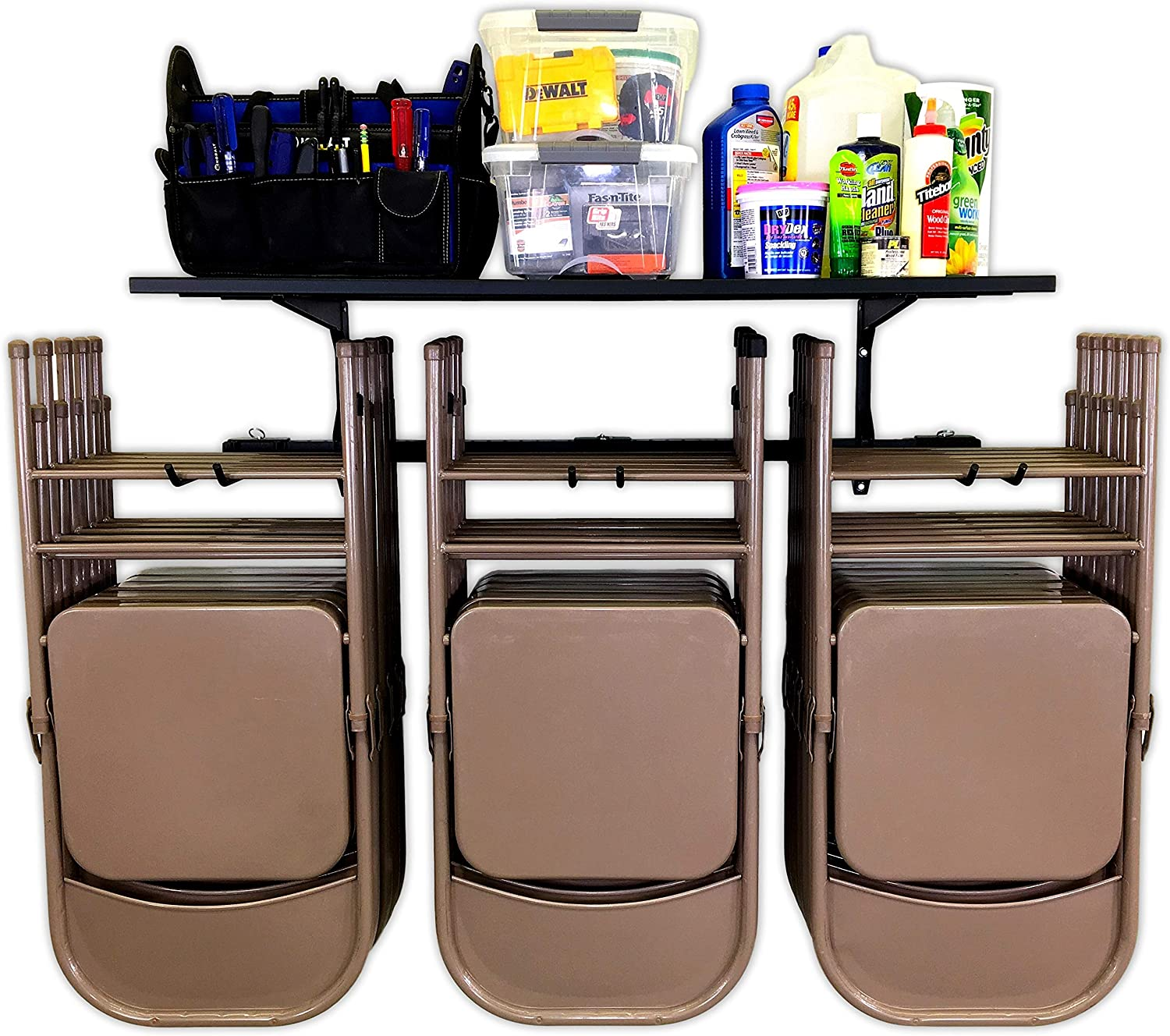 Amazon Com Storeyourboard Chair Storage Rack And Storage Shelf Folding And Beach Chair Wall Mount Home And Garage Hook Hanger System Home Improvement