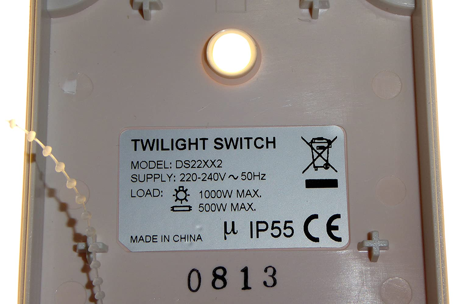 Twilight switch with timer waterproof IP55 photocell dusk to dawn 2h ...