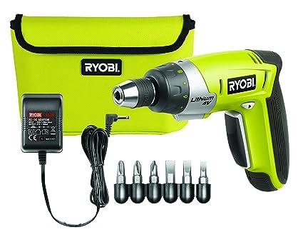 Ryobi CSD4107BG Negro, Verde 180 RPM - Destornillador (4 V, Ión de litio, 4,5 h, 440 g, 180 RPM, Batería)