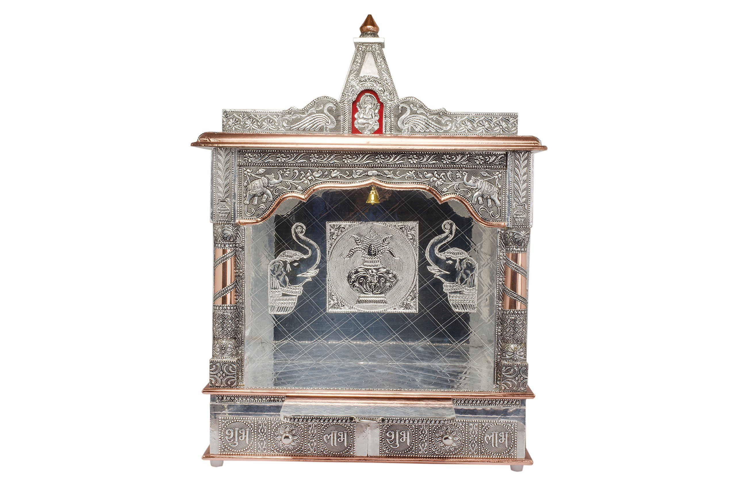 Movie Time Vdieo 59083-OX Hindu Puja Mandir/Temple/Alter, Aluminum Plated with Bell