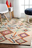 nuLOOM Ivory Hand Tufted Belini area rug Area Rug, 5' x 8'