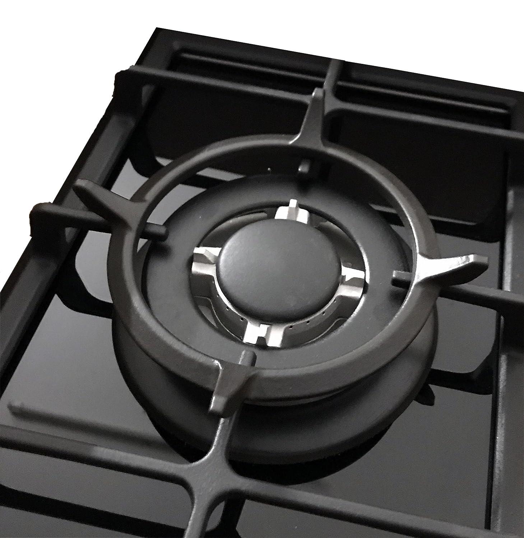1/fuoco Wok piano cottura a gas in vetro Ph/önix 101GBT adattatore Wok in ghisa e croce fornello a gas