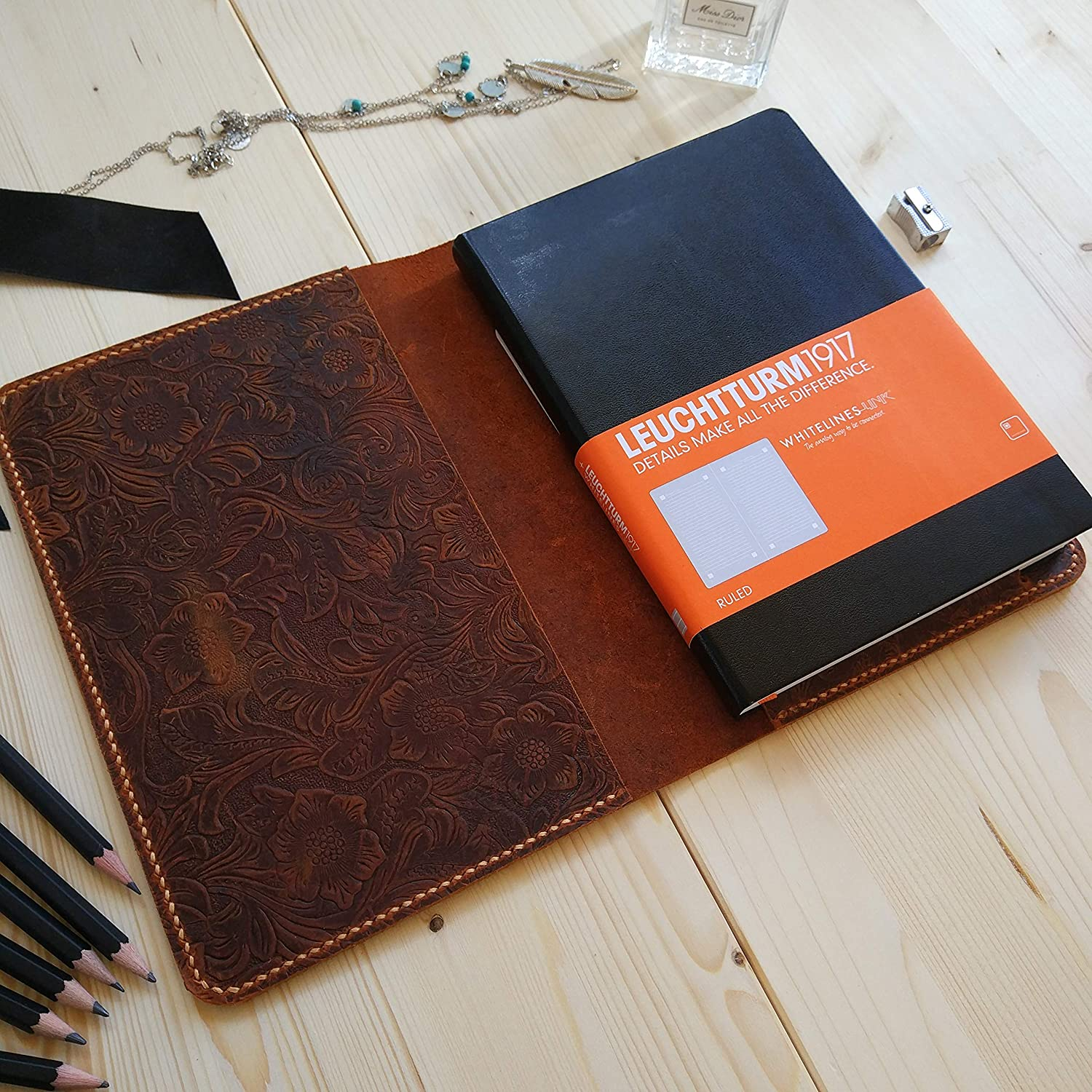 Amazon.com: Bullet Journal,Handmade Bullet Journal,Leather ...