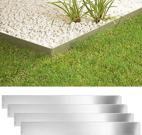 5M//7,5M//10M Grau Rasenkante Beeteinfassung Beetumrandung Palisade für Garten