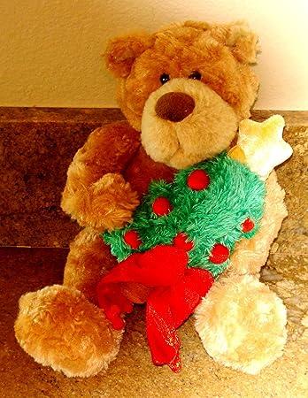 1e8dc4e6f9 Amazon.com  Gund Teddy Bear Soft Plush Holding a Christmas Tree - 12  Inches  Toys   Games