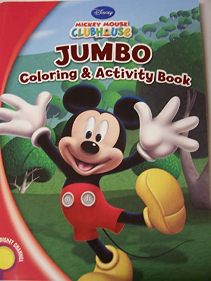 - Amazon.com: Disney Mickey Mouse Clubhouse Jumbo Coloring & Activity Book ~  A Mickey Fun Time! (144 Pages): Toys & Games