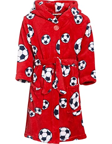39adeaebfc Playshoes Boys  Football Fleece Bathrobe