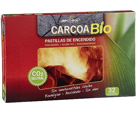 ffae51c1e8f Carcoa0327 Pastilles Allume-feu écologiques 19x2x13 cm Rouge  Amazon ...