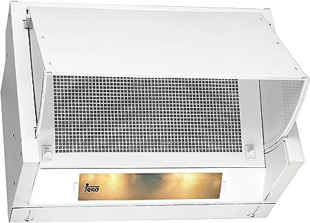 Teka NR1 89 Telescópica o extraplana Blanco 280m³/h - Campana (280 m³/h, Canalizado/Recirculación, Telescópica o extraplana, Blanco, Giratorio, 600 mm): Amazon.es: Grandes electrodomésticos