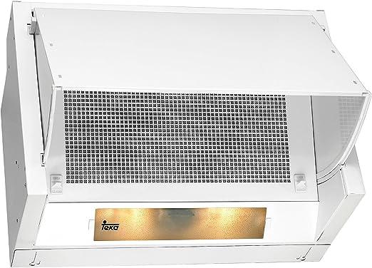 Teka NR1 89 - Campana (Canalizado/Recirculación, 318 m³/h, Built-under, Color blanco, Giratorio, 60 cm): Amazon.es: Grandes electrodomésticos