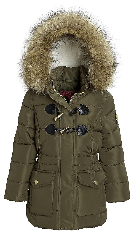 Catherine Malndrino Girls Winter Down Alternative Toggle Puffer Hood Jacket Coat