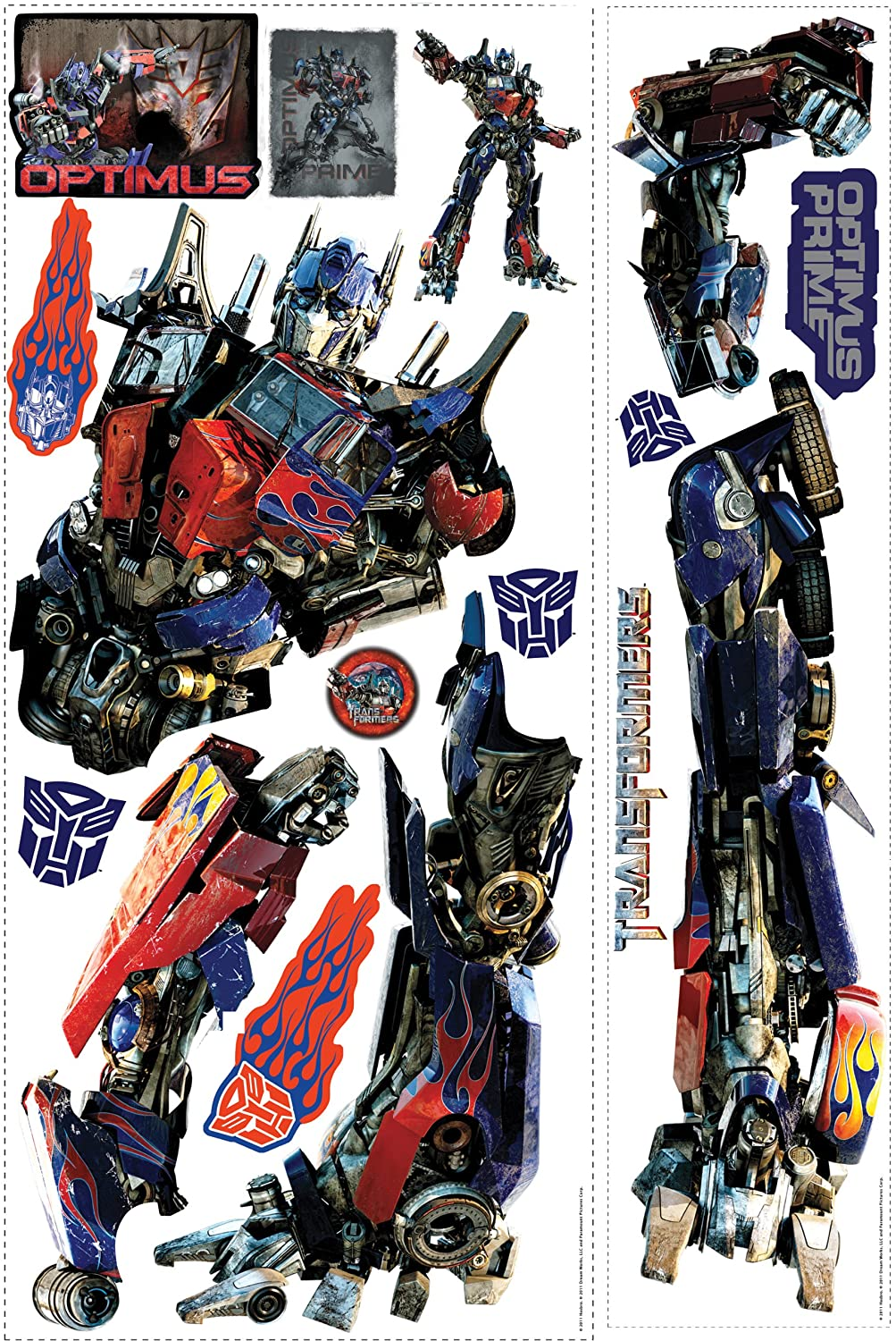 RoomMates RMK1089GB Transformers 3 Optimus Prime Peel and Stick Giant Wall Decal Wall Stickers u0026 Murals - Amazon Canada & RoomMates RMK1089GB Transformers 3 Optimus Prime Peel and Stick ...