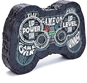 Juvale Small Video Game Controller Pinata for Birthday Gamer Party Decorations, 16.5 x 11 x 3 Inches
