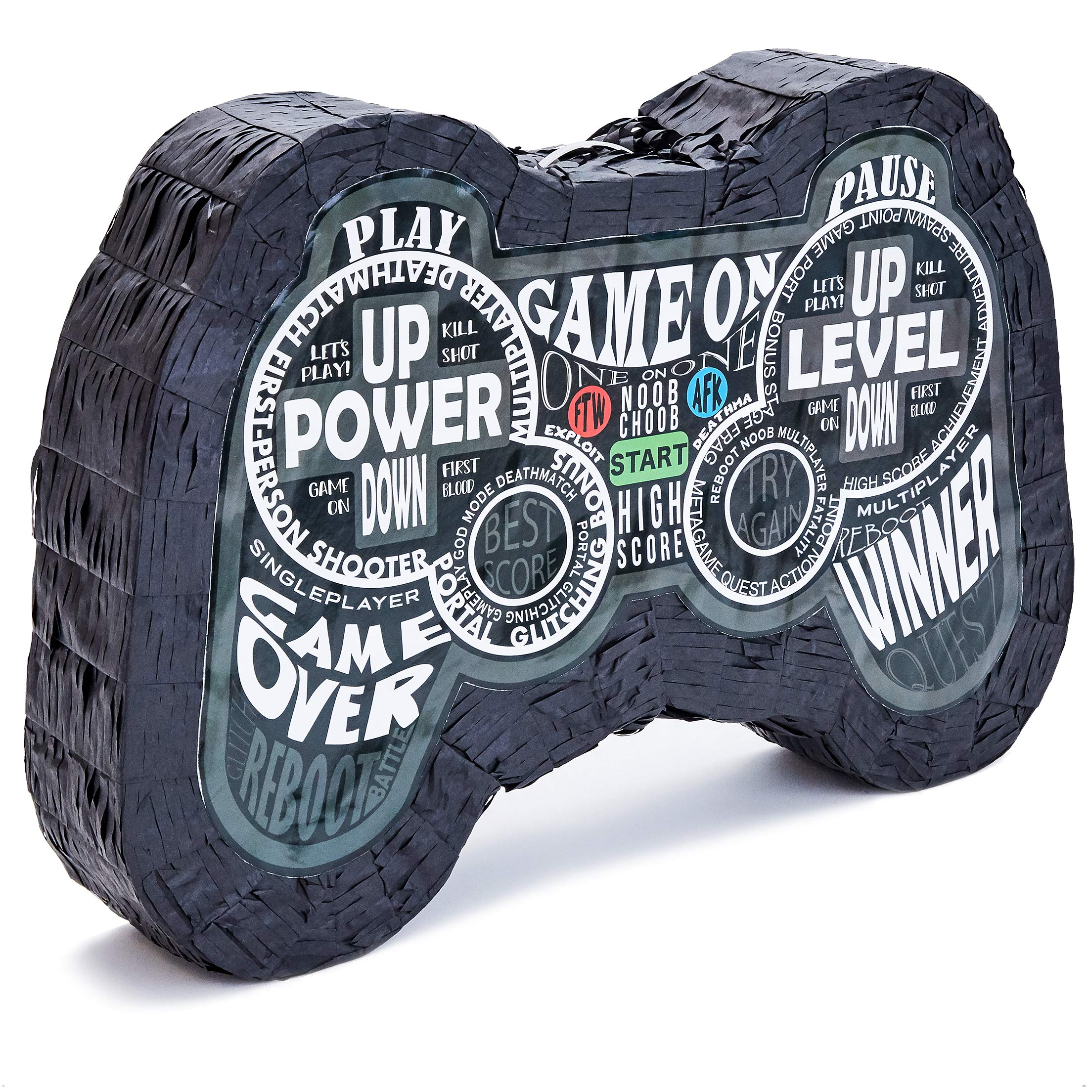 Juvale Small Video Game Controller Pinata for Birthday Gamer Party Decorations, 16.5 x 11 x 3 Inches by Juvale