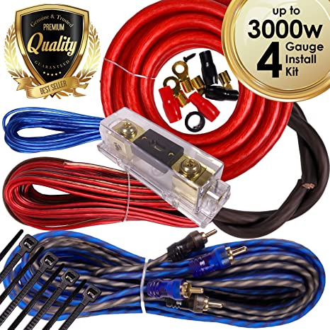 amazon com complete 3000w gravity 4 gauge amplifier installation rh amazon com car amplifier wiring kit india car amp wiring kit argos