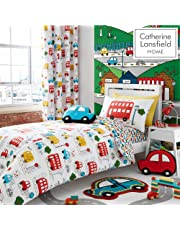 Catherine Lansfield Transport, Polyester, Bright, 3D Cushion