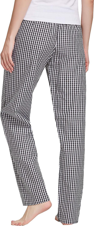 CYZ Womens 100/% Cotton Woven Poplin Sleep Pajama Pants