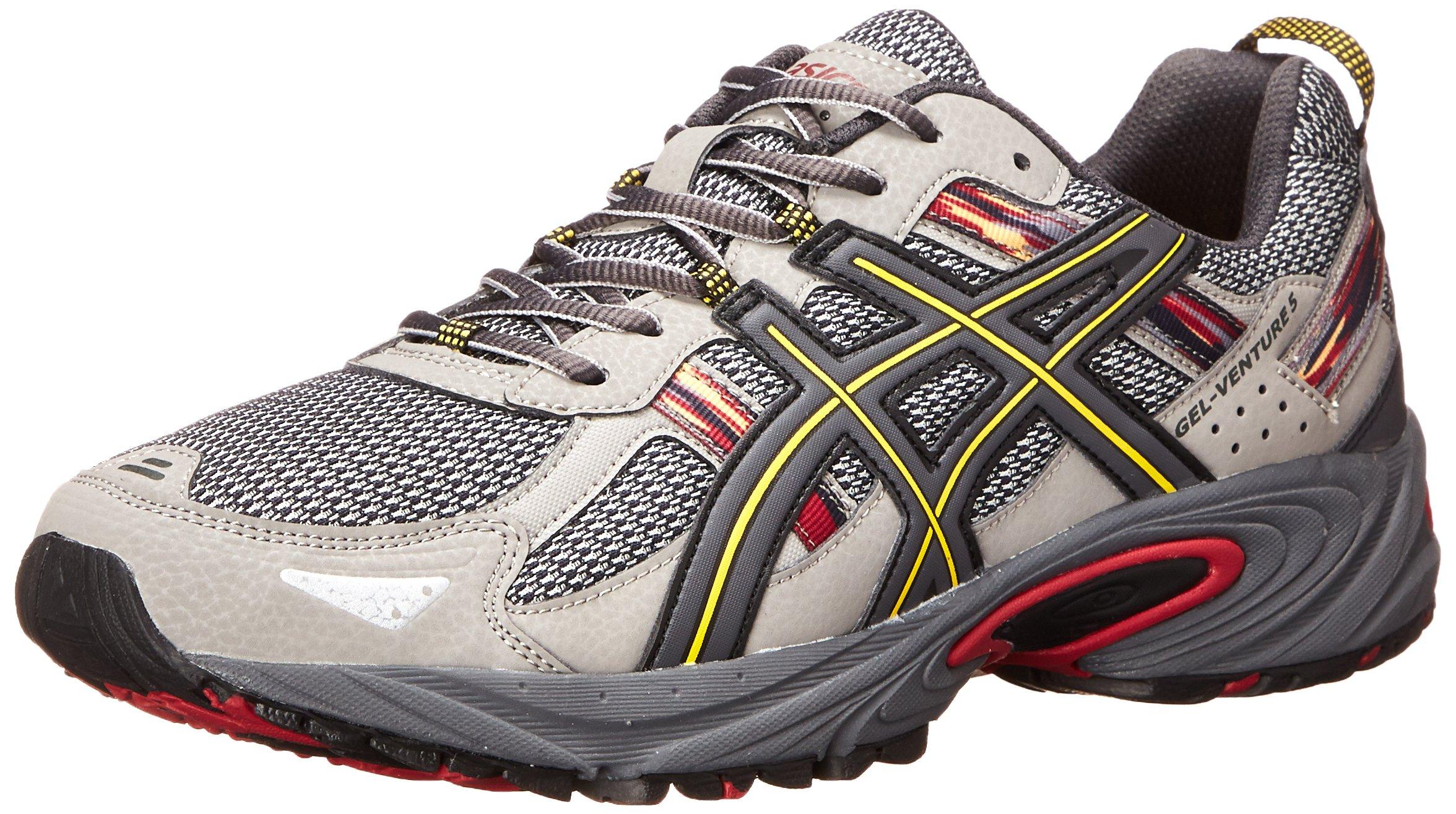 ASICS Men's Gel-Venture 5-M, Light Grey/Graphite/Red, 8 M US