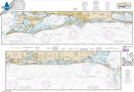Paradise Cay Publications NOAA Chart 11425: Intracoastal Waterway Charlotte  Harbor to Tampa Bay, 40 9 X 59 4, WATERPROOF