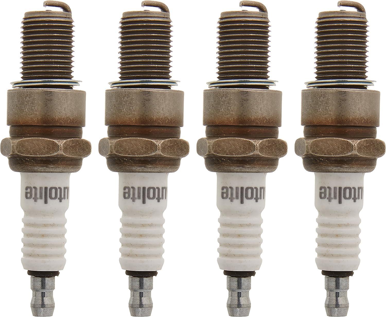 Pack of 4 Autolite 414-4PK Copper Non-Resistor Spark Plug