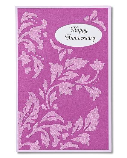 Amazon american greetings congratulations anniversary card for american greetings congratulations anniversary card for couple with glitter m4hsunfo