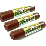 Jalapeno with Cheese Flavored Summer Sausage - 3 PACK - Old Fashioned Beef Sausage - Made Fresh with Quality Ingredients and Packs an Awesome Flavor - IT'S A MUST TRY - 24 total oz.