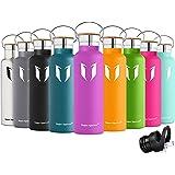 Super Sparrow Trinkflasche Edelstahl Wasserflasche - 500ml & 750ml & 1000ml - Isolier Flasche mit 100%-Zufriedenheitsgarantie | Perfekte Thermosflasche für das Laufen, Fitness, Yoga, Im Freien und Camping, Auto oder Unterwegs | Frei von BPA | Ideal als Wasser- & Sportflasche - mit 2 auswechselbaren Kappen