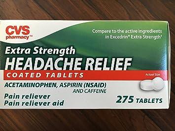 CVS Pharmacy Extra Strength Headache Relief 275 Coated Tablets