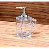 Wall Mounted Clear Liquid Soap Dispenser by Wigano. The Product Which Include Liquid Soap Dispenser with Chrome Polish Pump Ideal for Room Bathroom, Luxury Hotel Bathroom by-Wigano