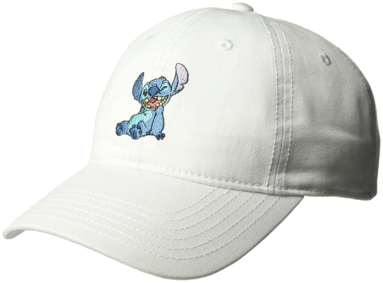 Disney Women's Lilo and Stitch Baseball Cap, 100% Cotton, White, One Size ECCL6193AZ-100
