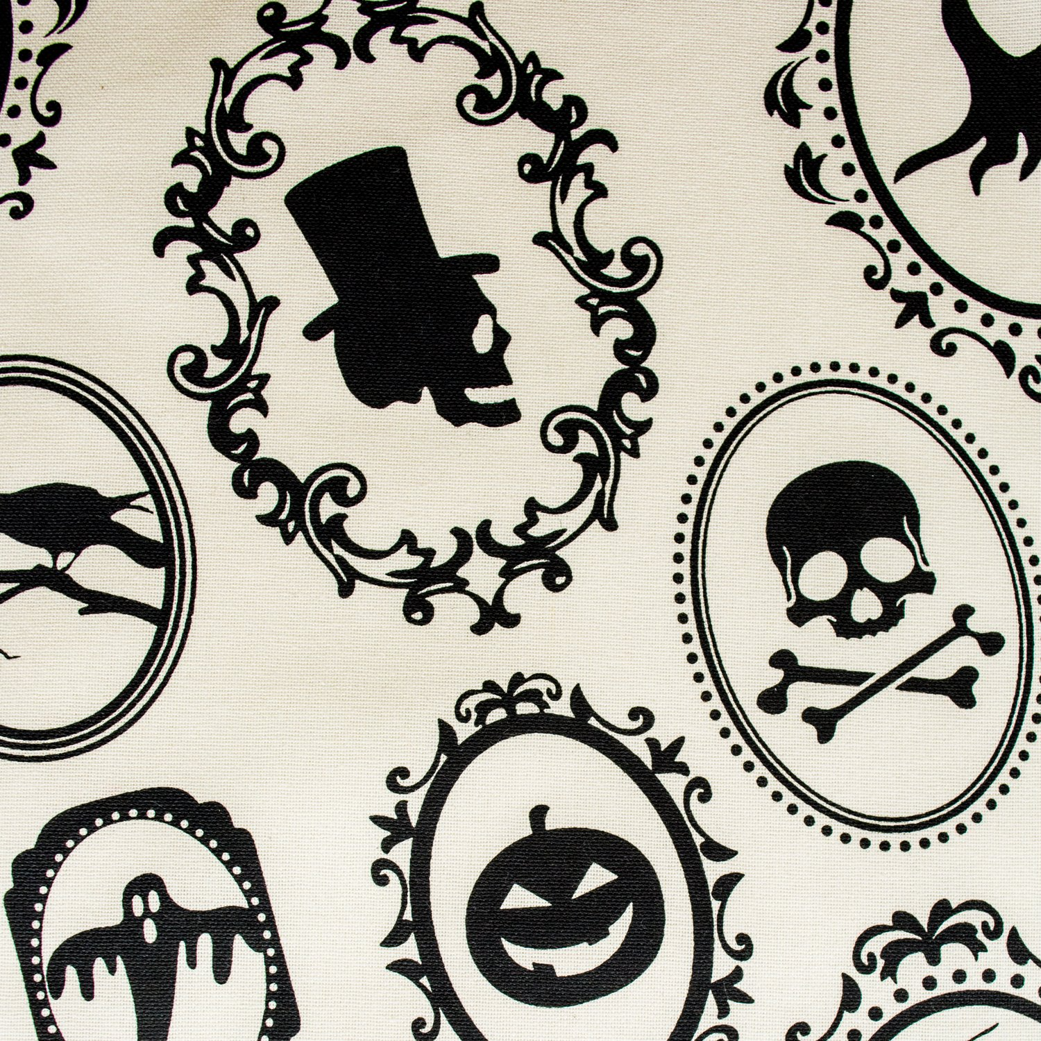 DII Oversized 20x20'' Cotton Napkin, Black & White Halloween Portrait - Perfect for Halloween, Dinner Parties and Scary Movie Nights by DII (Image #2)