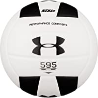 Under Armour 595 Performance Composite Match Play Volleyball, Black/White