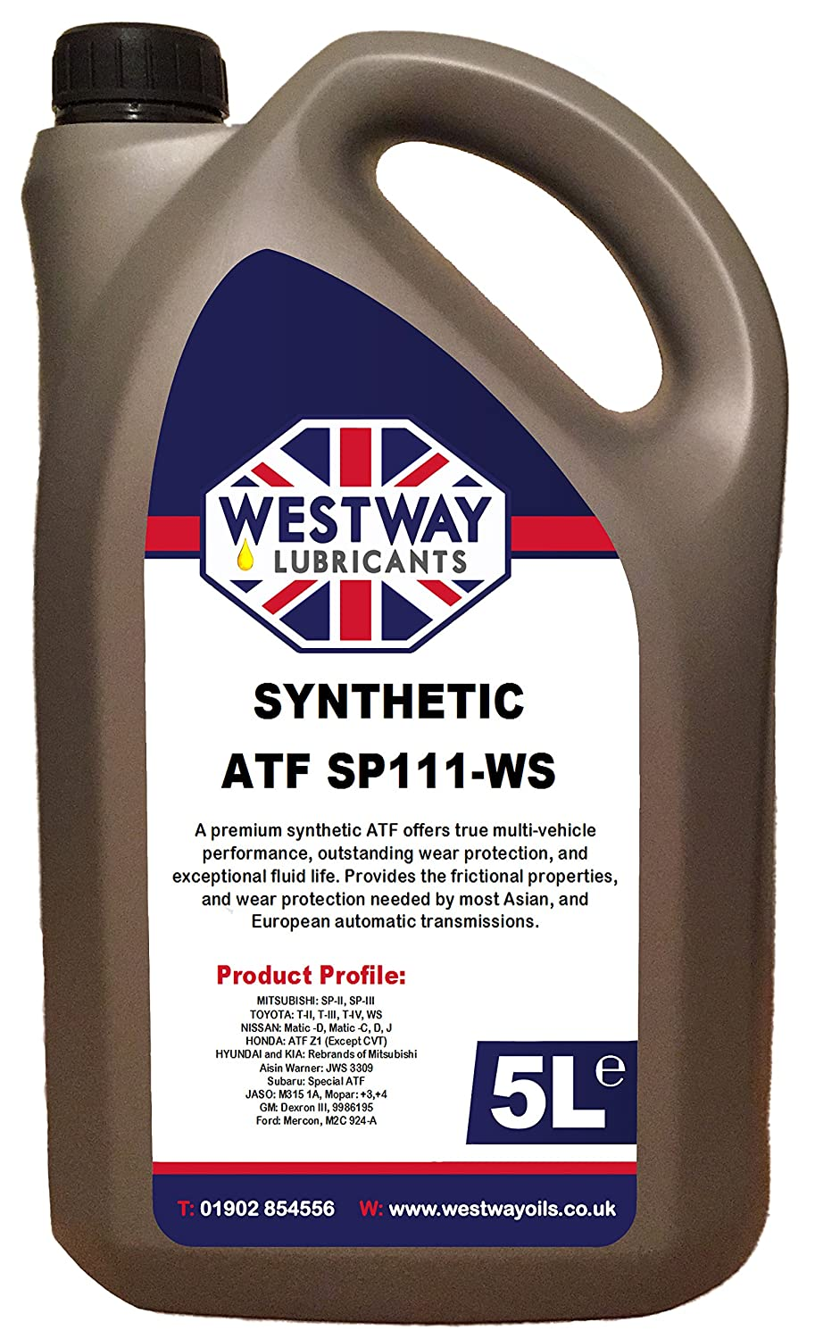 ATF SYNTHETIC SP 3 III-WS Automatic Transmission Oil Fluid 5L:  Amazon.co.uk: Car & Motorbike