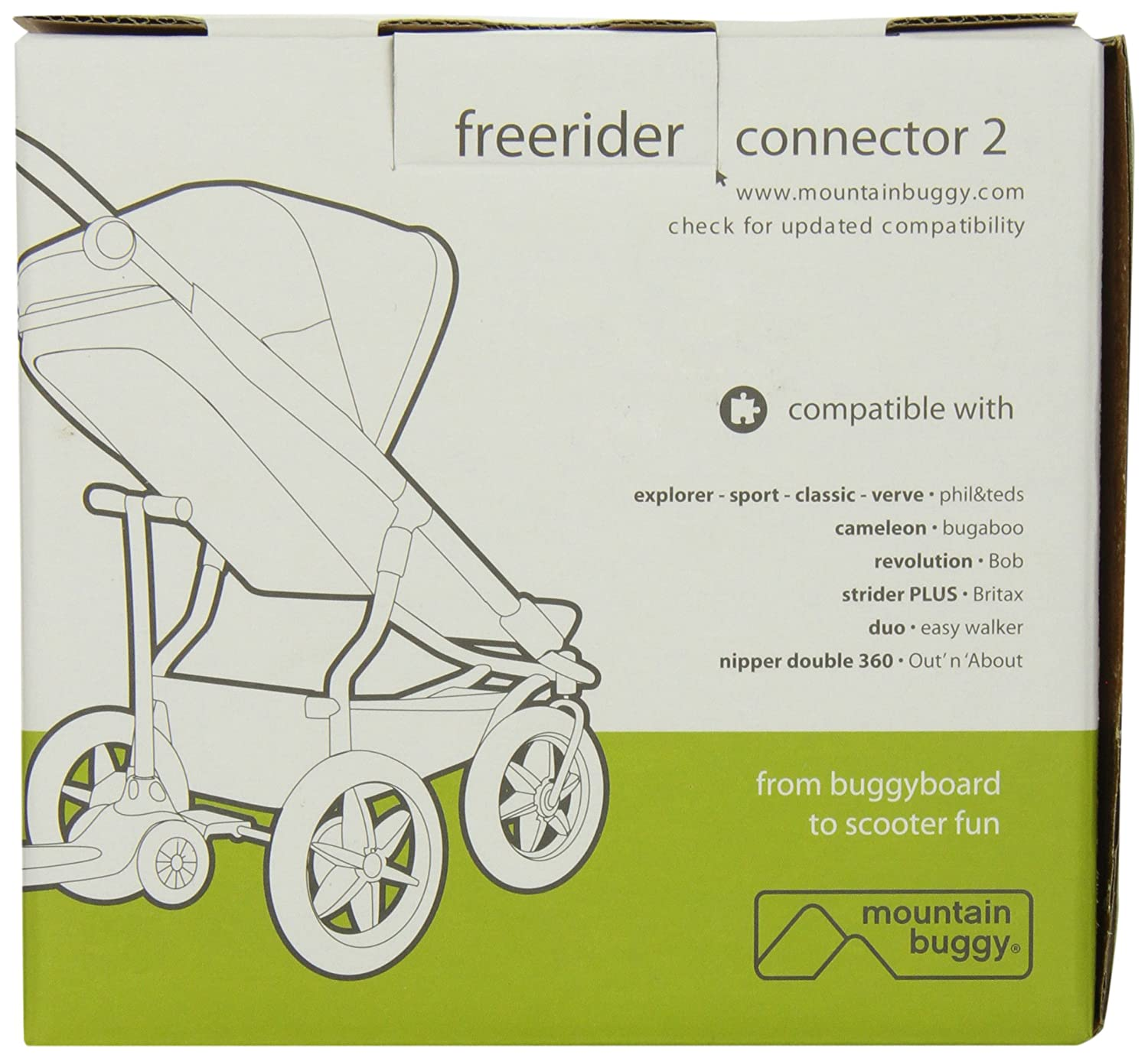 Mountain Buggy Freerider Kiddie Board in Black Complete with Adapter Free Ship!