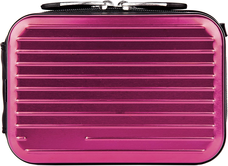 Purple VanGoddy Pascal Mettalic Metal Case for Panasonic Lumix DMC FT30 Digital Cameras and Screen Protector