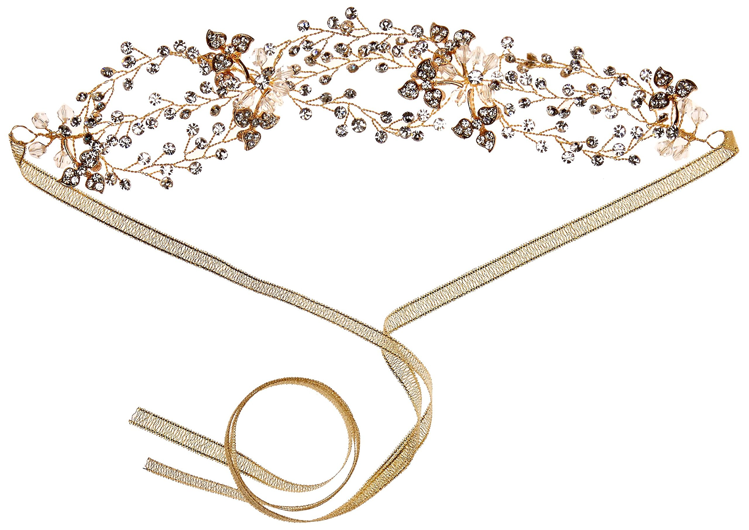 Nina Women's Whimsy Gold Vine Bridal Hairpiece, Gold Finish, One Size by Nina