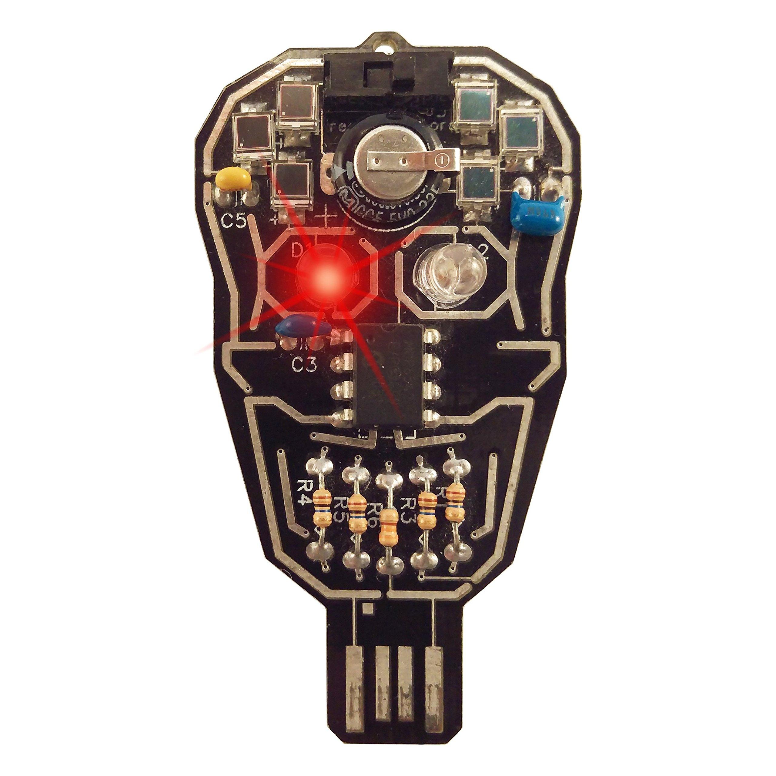Lumen Electronic Jewelry Intermediate Soldering kit, Solar powered LED Skull
