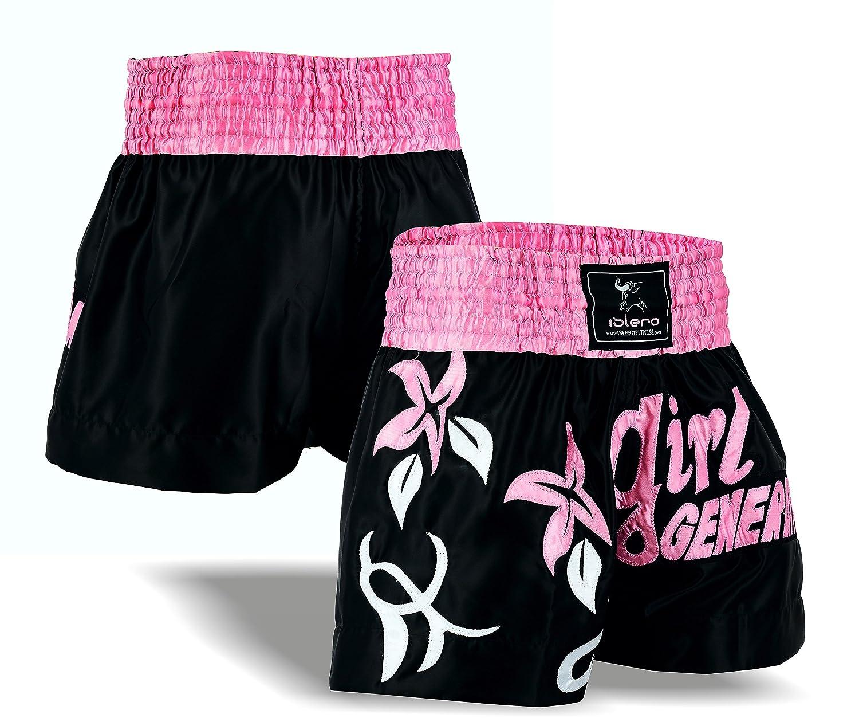 Islero Ladies Pink Muay Thai Fight Shorts MMA Kick Boxing Grappling Martial Arts Gear UFC