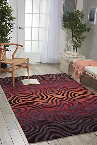 Nourison Contour Sangr Rectangle Area Rug, 8-Feet by 10-Feet 6-Inches 8 x 10 6