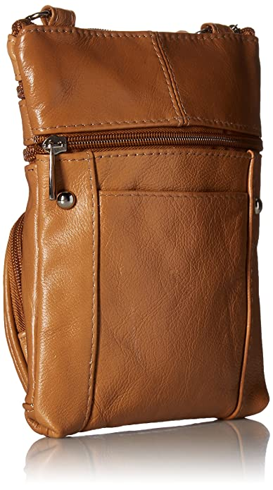 Roll over image to zoom in Roma Leather Roma Genuine Leather Multi-Pocket Crossbody Purse Bag