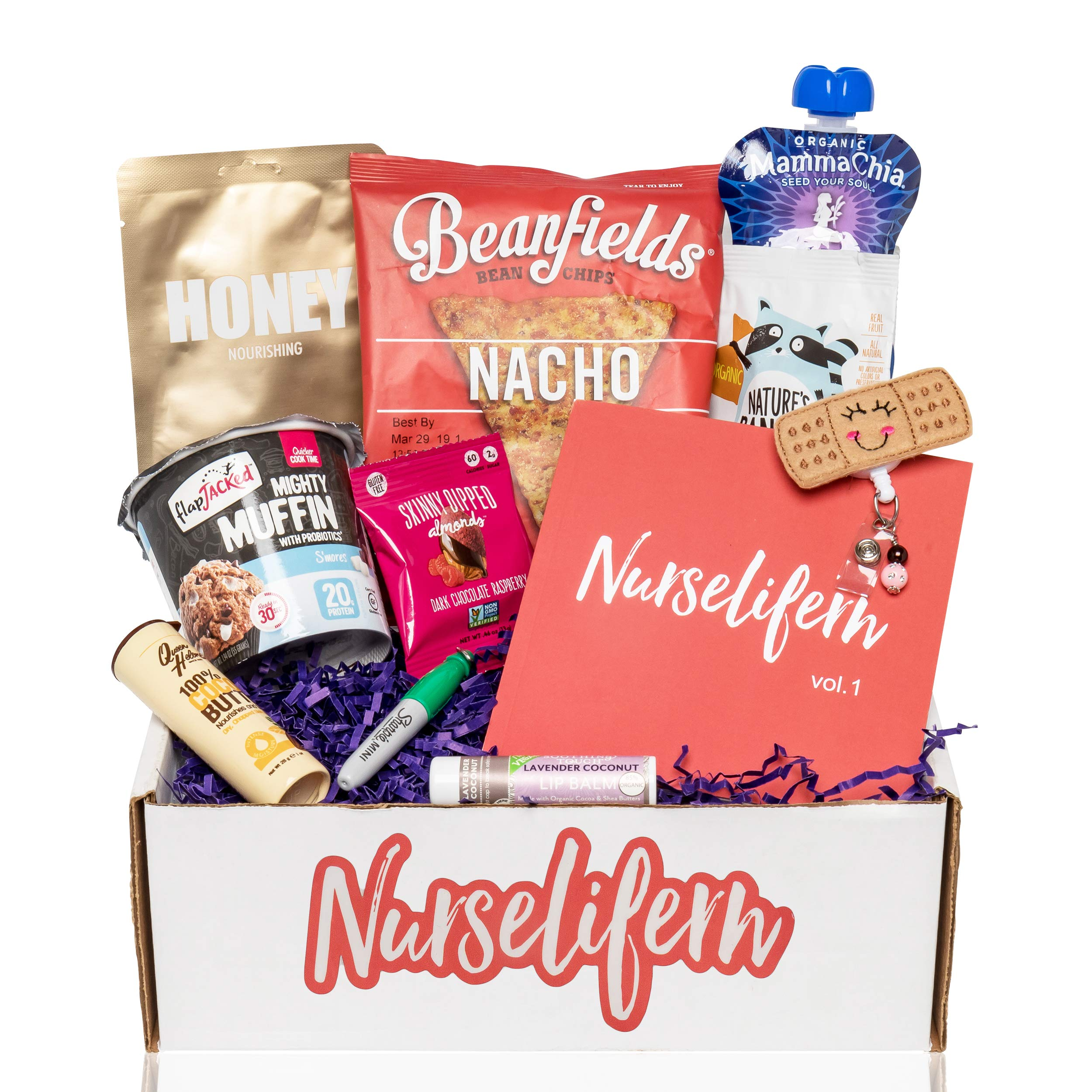 Nurse Essentials Gift Box: Nurse Badge Healthy Snacks Self Care Nurse Gift Must Haves All In One By Nurselifern by BUNNY · JAMES · (Image #1)